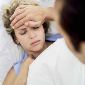 Девушка заболела