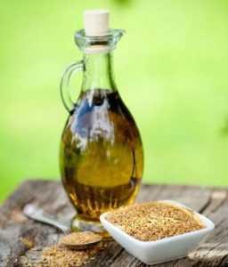 Льняное масло для похудения в бутылке