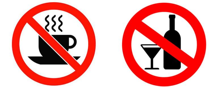 исключить кофе и алкоголь для лечения глистов